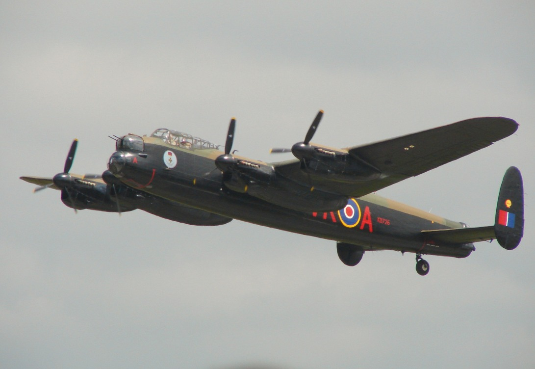 Another awesome plane was this Lancanster <b>Bomber </b>. There are only two ...