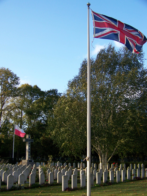 UK Flag cemetery